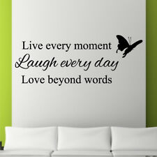 LIVE LAUGH LOVE wall sticker decal living room lounge bedroom large vinyl quote