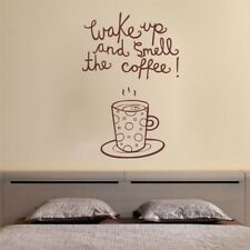 SMELL THE COFFEE wall quote decal kitchen dining room wall sticker