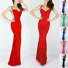 RED Mermaid Formal Prom CHEAP Evening Gown LONG Dresses Vestidos de graduation