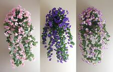 3 Different Colors Flower Vine Artificial Plants Bush Wall Basket Hangings