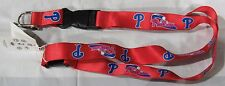 MLB NWT KEYCHAIN LANYARD- PHILADELPHIA PHILLIES- RED