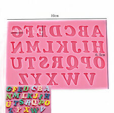 Silicone Alphabet Letter Trays Chocolate Mold Cake Fondant Decorating Tools topc