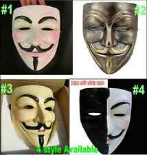 resin V for Vendetta Mask Anonymous Guy Fawkes cosplay Halloween masquerade prom