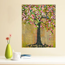 Mixed Media Nature Art Wall Sticker Decal - Lexicon Tree of Life by Blenda Tyvo