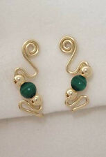 Ear Sweeps Pins Vines Earrings Gold or Silver with Gemstones or Beads #241