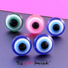 FUNKY EVIL EYE BALL STUD EARRINGS QUIRKY RETRO COOL GOTH KITSCH FUN PARTY GIFT