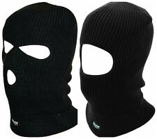 Thinsulate SWAT 1&3 Hole Balaclava Quality Head Face Knit Mask In Black One Size