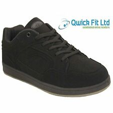 MENS RUNNING BLACK SKATER TRAINERS WALKING SPORTS BOYS BLACK SHOES BOOTS SIZES