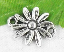 Wholesale 38/90Pcs Tibetan Silver(Lead-Free)Flower Connectors Findings  16x13mm