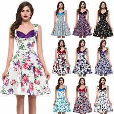 Vintage Style 50s 60s Swing Pinup Rockabilly Swing Pinup Picnic Dress Robe Kleid