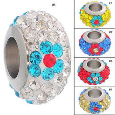 Charms CZ Crystal Beads Fit European Charm Bracelets
