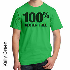 T-Shirt 100% Gluten Free Healthy Allergies Food No Wheat Popular Trendy Hot