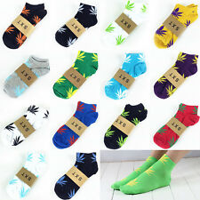14 Color Women Men Plantlife Marijuana Weed Maple Leaf Cotton Short Ankles Socks