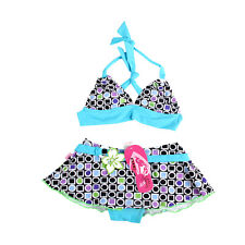 NEW Girls Swimwear Kids Bikini Swimsuit Bathing Tankini 2pcs Swim Clothes Lovely