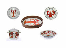 Cookware Stock Pot Enamel Stainless Steel 16 Qt Clambake Charger Plates Lobster
