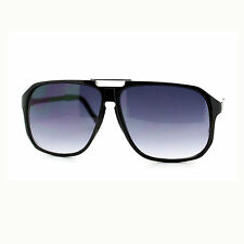 Mens Fashion Sunglasses Oversized Flat Top Square Aviator Shades