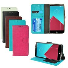 PU Leather Card Holder Wallet Flip TPU Cellphone Cover Stand Case For LG G4