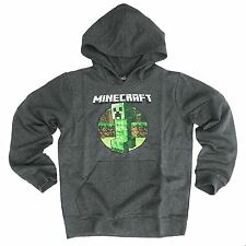 Officially Licensed MINECRAFT HOODY CREEPER RETRO YOUTH HOODIE Age 5-15