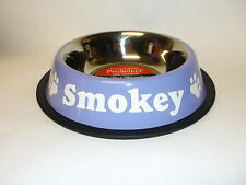 Personalized ProSelect Anti-Skid Stainless Steel Dog Cat Pet Food Bowl FREE SHIP