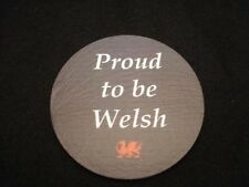Welsh Slate Coaster Souvenir Daffodil Traditional Gift Present Made in Wales