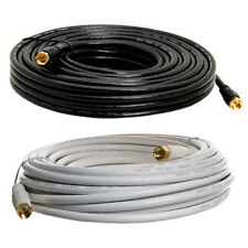 RG59 Coaxial Cable Gold Plated Connector Digital Satellite AV TV VCR Video 50 ft