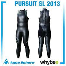 Vendita! Aqua Sphere 2013 Pursuit SL manica corta Triathlon Suit WETSUIT RRP £ 150!