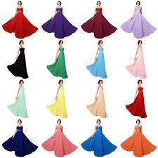 Girl Chiffon Long Prom Evening Cocktail Dresses Formal Party Ball Gown Plus Size