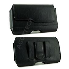 Leather Sideways Belt Clip Case Pouch with Z Lid for Verizon Wireless Cell Phone