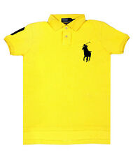 NEW Ralph Lauren Polo Shirt BIG PONY Men's CUSTOM FIT Yellow / Black