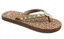 Blazin Roxx Western Shoes Womens Leanne Flip Flops Cross Brown 4110402