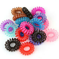 10PCS Colorful Women Girls Elastic Rubber Hair Ties Band Rope Ponytail Holder PA