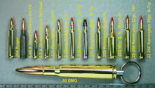 Bullet Keychain / Inert .50 BMG, 223, 308,357, 40, 44, 45, 50AE & more