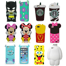 3D Cartoon Superhero Soft Silicone Rubber Case Cover For iPhone 5C 4G 5S S6 G130