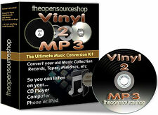 Convert Vinyl Records & Tapes 2 CD & MP3 - 3m Lead Length DIY Kit + FREE CD Gift