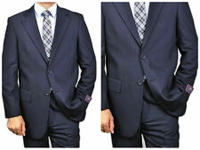 Carlo Lusso Super 150 Navy Solid Mens Euro Slim Fit Suit New MRSP $450