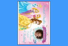 """Princess w/Picture Images Edible Cake Toppers 1/4 Sheet, 7.5"""" Round or Cupcake"""