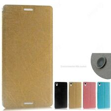 Premium Luxury PU Leather Flip Stand Best Back Case Cover- Sony Xperia M4 Aqua