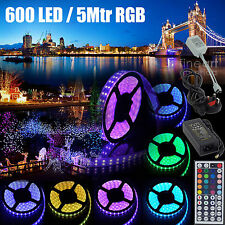 5M/10M SMD 5050/3528 RGB LED Strip Light + Power Adapter+ IR Remote Waterproof