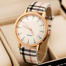 2015 White Dial Designer Women's Leather Fasion Watch USA Seller FREE Shipping