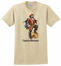Captain Morgan T-shirt. Spiced Rum. Gray, Khaki, White, Yellow. Size Small - 5X