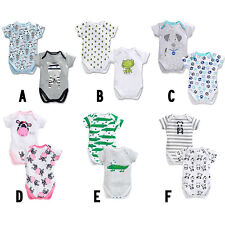 2pcs HOT Cartoon Baby Kids Boy Cool Clothes Boy Girl Rompers