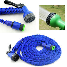 Latex 50 100 200 FT Feet Expanding Flexible Garden Water Hose with Spray Nozzle