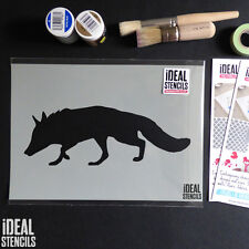 Fox Stencil Woodland animal nursery stencils wall decor art craft paint stencils