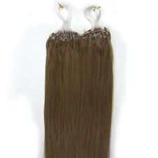 """18"""" Indian Remy Premier Loop Micro Ring 100% Extension Con Capelli Veri AAA UK"""