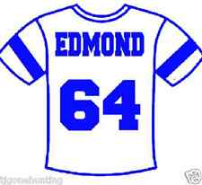 Child Jersey Name & Number, Custom Heat Transfer, Personalized Glitter iron on