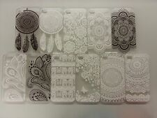 Henna Flower Paisley Elephant Hard Clear Cover Case fits iphone 4 4s 5 5s 5c 6 +