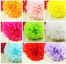 "10"" Colorful Tissue Paper Pom Poms Flower Ball Wedding Birthday Party Decoration"