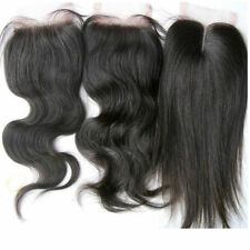 "4"" x 4"" Full Lace Top Closure Brazilian 100% Remy Real Human Hair Black 8""-24"""