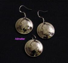 1997 DIME 3D DOMED EARRING & PENDANT/ CHARM SET 18th BIRTHDAY ANNIVERSARY GIFT