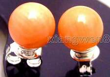 SALE Small 5-6MM Perfect Round Pink natural coral Earring-ear414